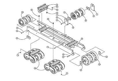 Diagram 23-A Undercarriage Assembly - Left Hand
