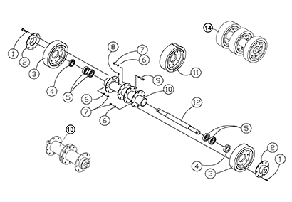 Diagram 23-A 10 Inch Rear Axle Assembly
