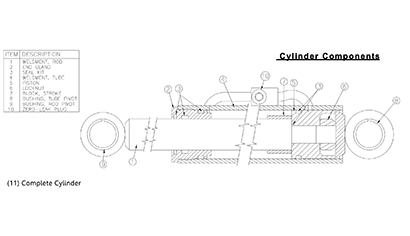 Diagram 25.1-A Hydraulic Bucket Tilt Cylinder