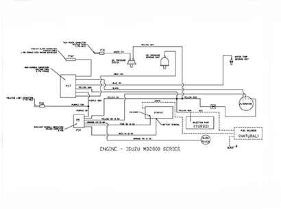 Diagram E2 Engine Wiring Isuzu MD2800