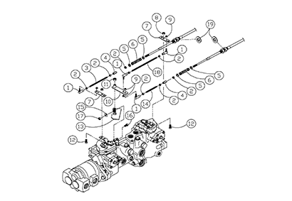 Diagram 08-A Transmission Linkage