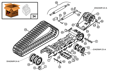 Diagram 19-A Undercarriage Assembly - Left Hand