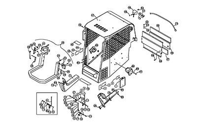 Diagram 01-B Cab ROPS Assembly - Open