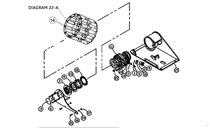 Diagram 20-A Drive Table Assembly - Right Hand
