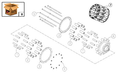 Diagram 22-A Drive Sprocket Assembly
