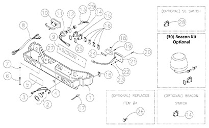 Diagram 02-B Light Bar Assembly