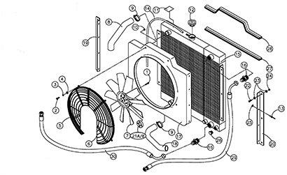 Diagram 06-A Radiator and Oil Cooler Assembly