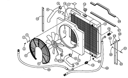 Diagram 06-B Radiator and Oil Cooler Assembly