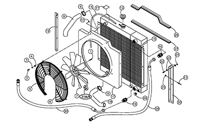Diagram 06-C Radiator and Oil Cooler Assembly