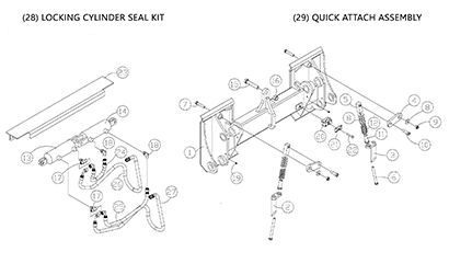 Diagram 27-B Quick Attach Assembly - Mounting Plate