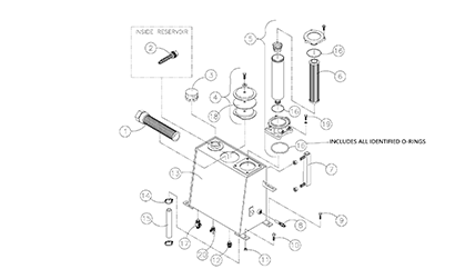 Diagram 07-B Hydraulic Reservoir Assembly