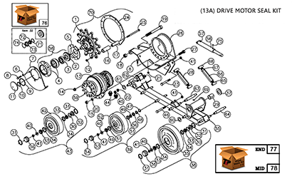 Diagram 13-A Undercarriage Assembly - Right Hand