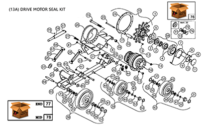 Diagram 14-A Undercarriage Assembly - Left Hand