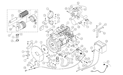 Diagram 10-A Engine Assembly