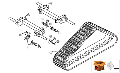 Diagram 12-A Torsion Axle Assembly