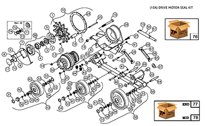 Diagram 13-B Undercarriage Assembly - Right Hand