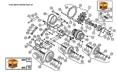 Diagram 14-B Undercarriage Assembly - Left Hand