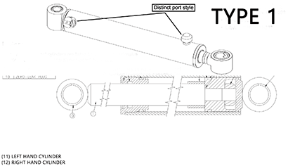 Diagram 15.1-A Hydraulic Bucket Tilt Cylinder - Type 1