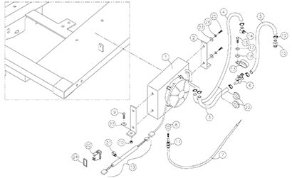 Diagram 19-A Cab Heater Assembly