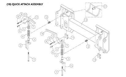 Diagram 17-A Quick Attach Assembly - Mounting Plate
