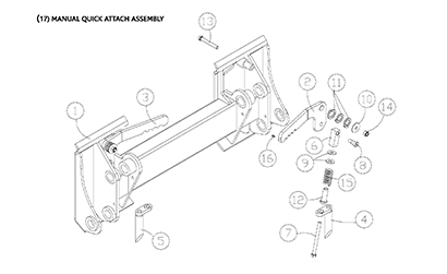 Diagram 17-B Quick Attach Assembly - Mounting Plate