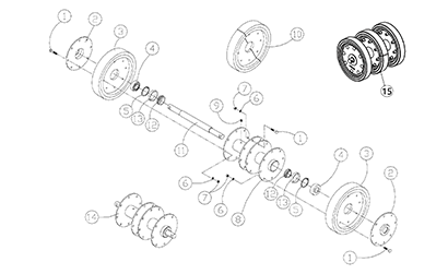 Diagram 23-A 14 Inch Idler - Tapered Bearings