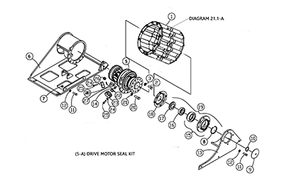 Diagram 21-A Drive Table Assembly - Left Hand