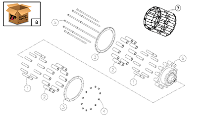 Diagram 21.1-A Drive Sprocket Assembly