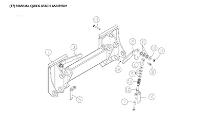 Diagram 23-A Quick Attach Assembly - Manual Mounting Plate
