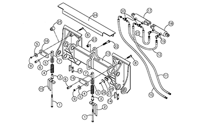 Diagram 26-A Quick Attach Assembly - Mounting Plate