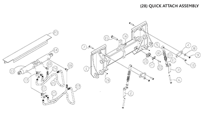 Diagram 26-B Quick Attach Assembly - Mounting Plate