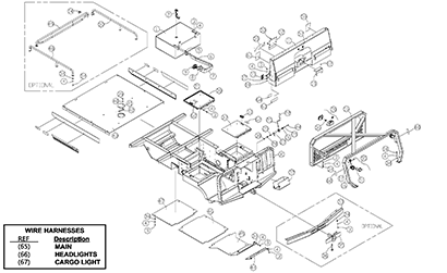 Diagram 03-A Chassis and ROPS Assembly