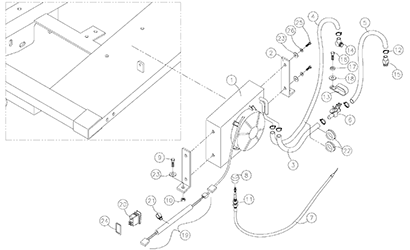 Diagram 18-A Cab Heater Assembly