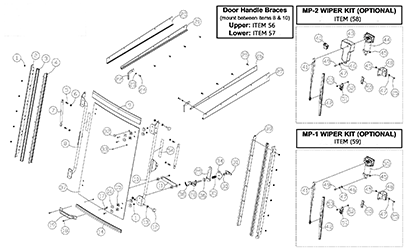 Diagram 03-A Cab Door Assembly - Optional
