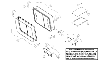 Diagram 04-A Cab ROPS Assembly - Enclosed - Optional