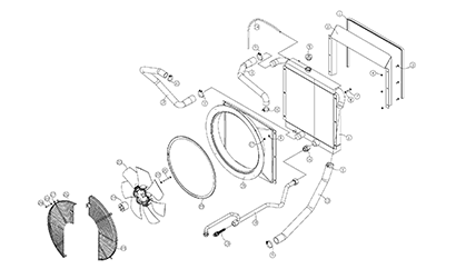 Diagram 07-A Radiator and Oil Cooler Assembly