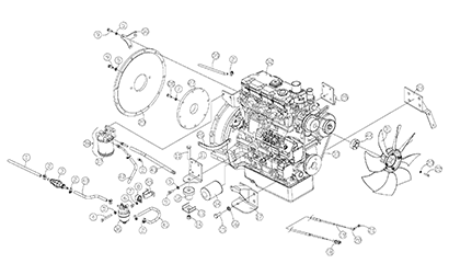 Diagram 12-A Engine Assembly