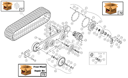 Diagram 17-A Undercarriage Assembly
