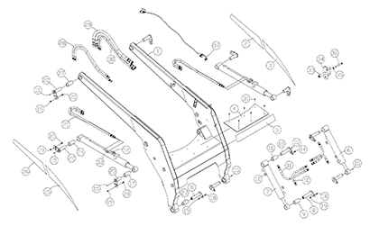 Diagram 21-A Lift Arm Assembly