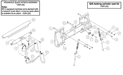 Diagram 24-A Quick Attach Assembly - Hydraulic Mounting Plate