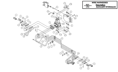 Diagram 09-A Hydraulic Auxiliary Assembly - Optional