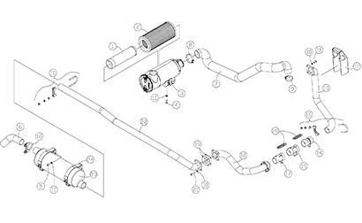 Diagram 13-A Intake and Exhaust Assemblies