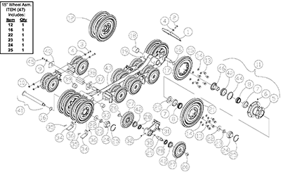 Diagram 18-A Undercarriage Assembly - Left Hand