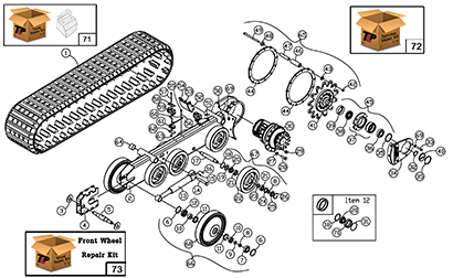 Diagram 17-A Undercarriage Assembly - Left Hand